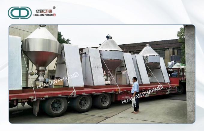 Double Cone Industrial Vacuum Dryer Vacuum Drying 550kgs 304 316L Customized