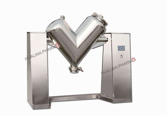 China Pharma V Shape Powder Mixer Stainless Steel Food Cosmetic Blending Support factory