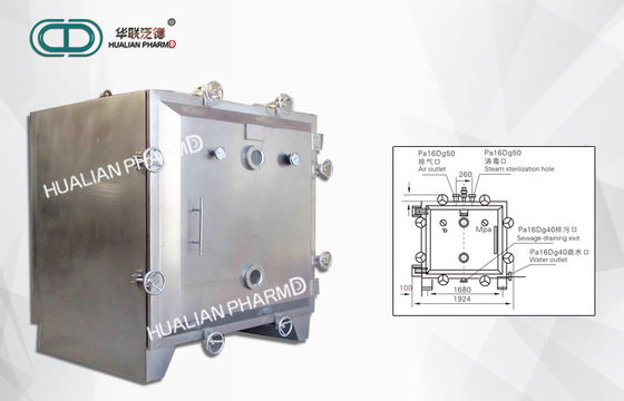 China Industrial Pharmaceutical Machinery / Round Or Square Dryer Vacuum Drying Ovens factory
